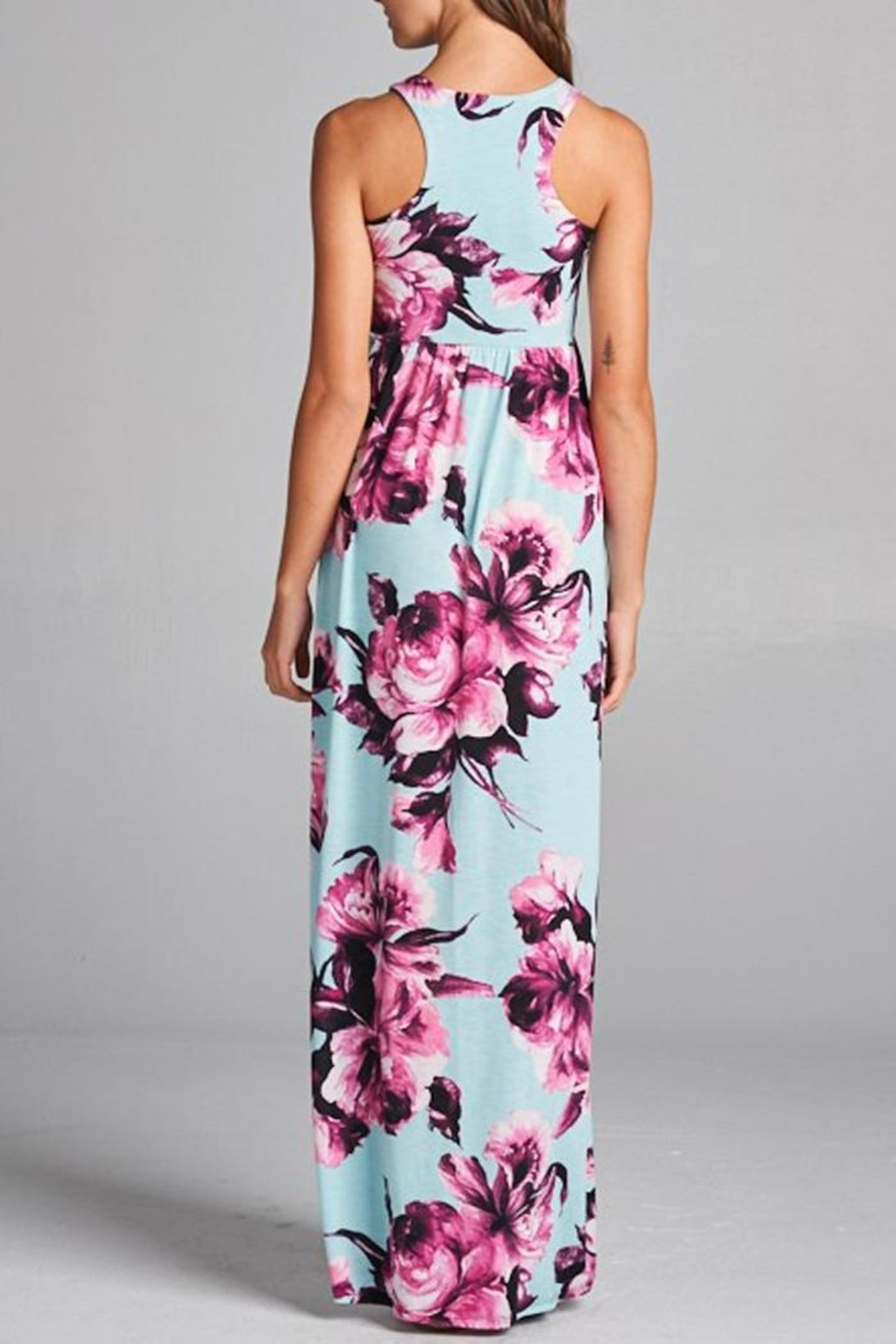 Bellamie Floral Maxi Dress - Back Cropped Image