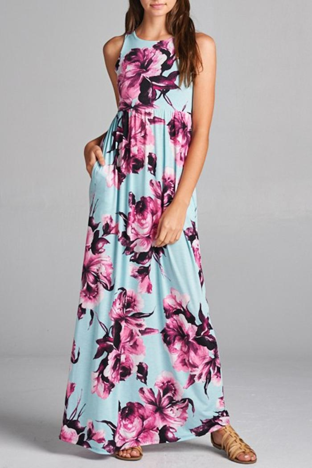 Bellamie Floral Maxi Dress - Front Full Image
