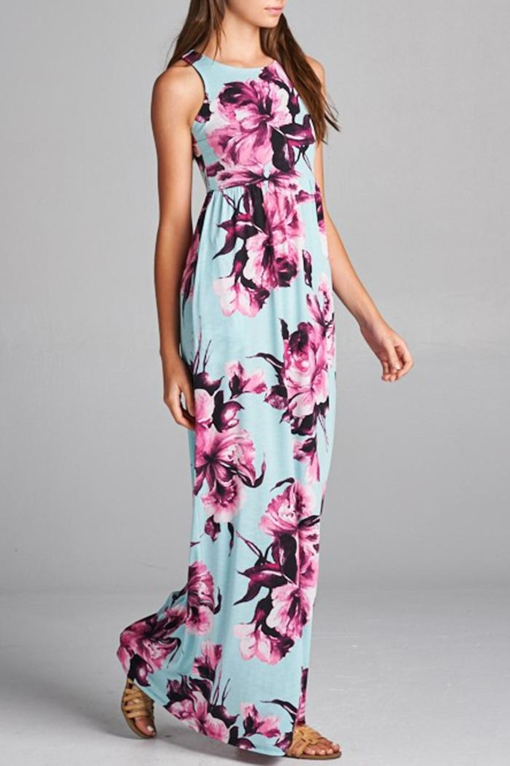 Bellamie Floral Maxi Dress - Side Cropped Image
