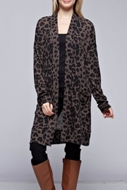 Bellamie Leopard Cardigan - Front cropped