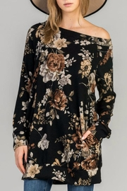 Bellamie Long Floral Pullover - Product Mini Image