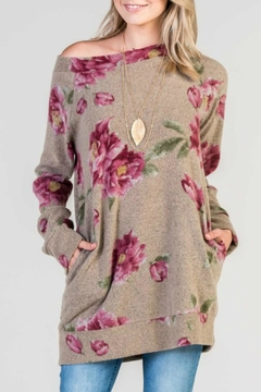 Shoptiques Product: Long Floral Tunic