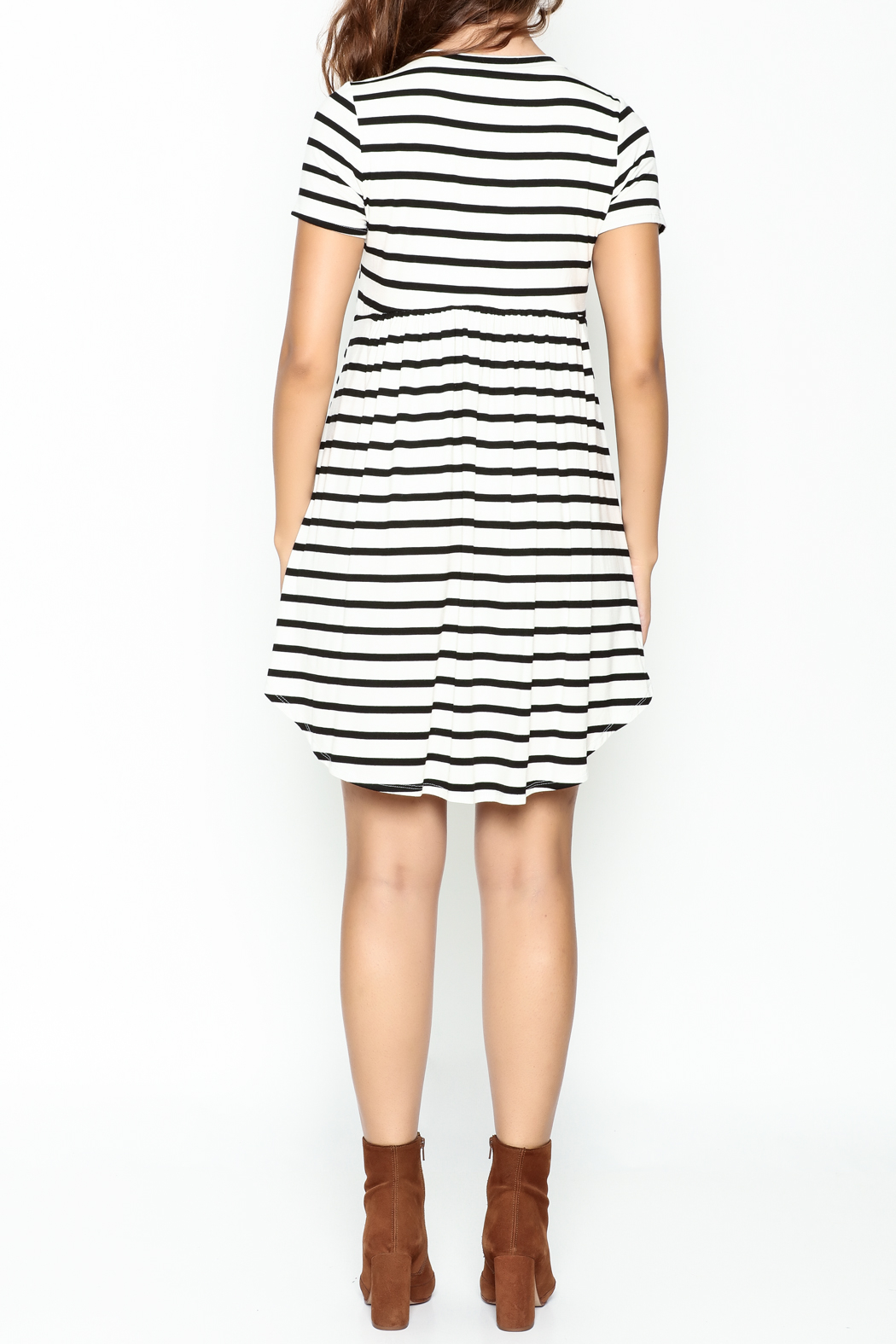 Bellamie Maddie Striped Tunic - Back Cropped Image