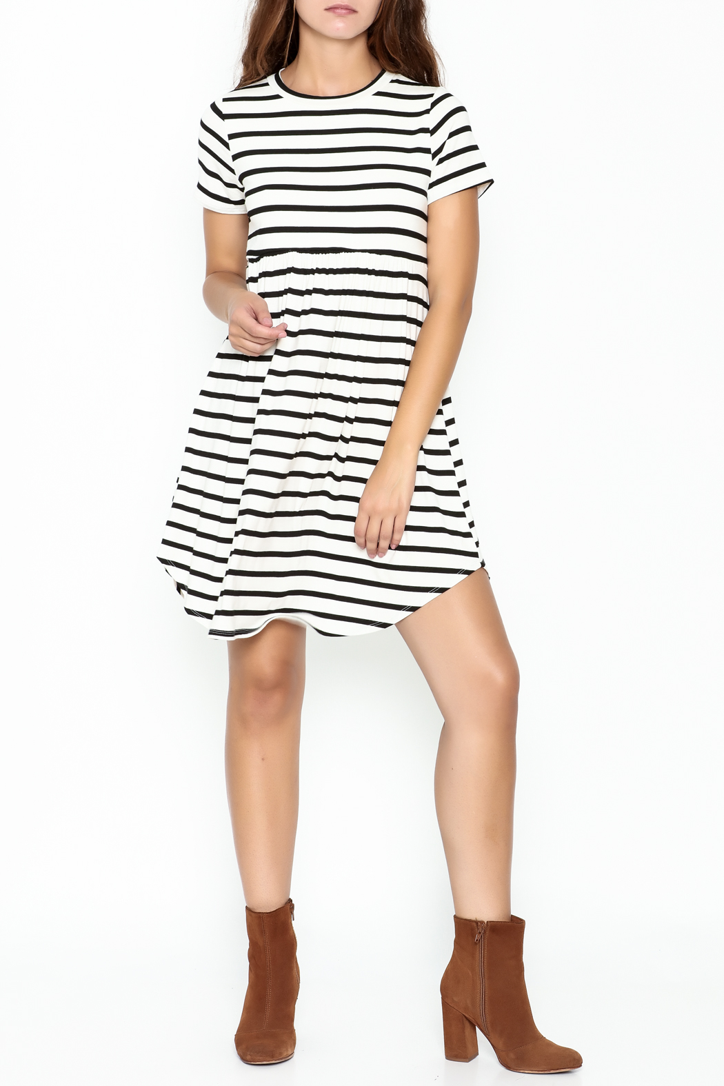 Bellamie Maddie Striped Tunic - Front Cropped Image