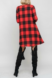 Bellamie Plaid Swing Dress - Front full body