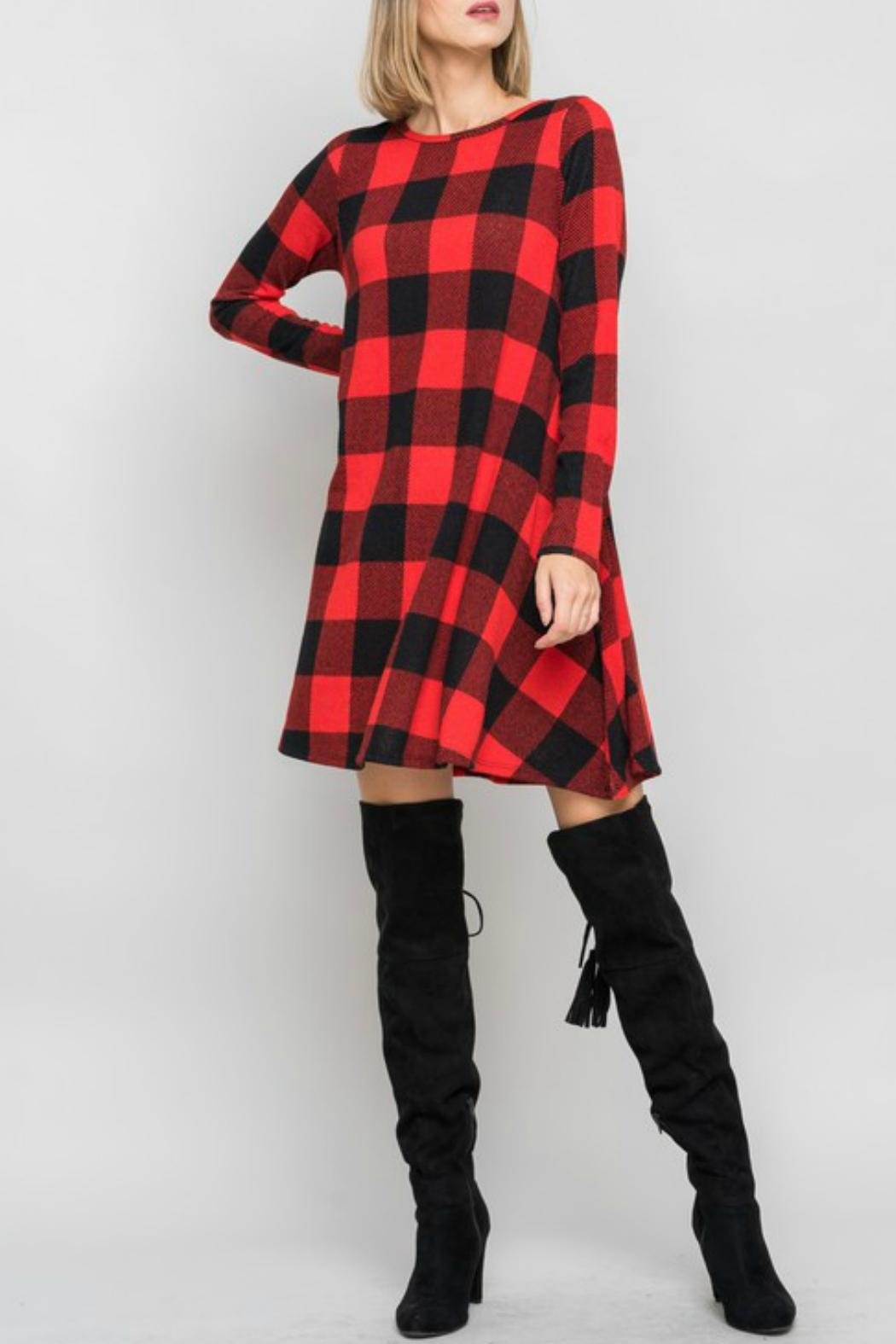 Bellamie Plaid Swing Dress - Main Image