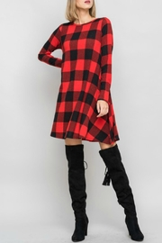 Bellamie Plaid Swing Dress - Front cropped