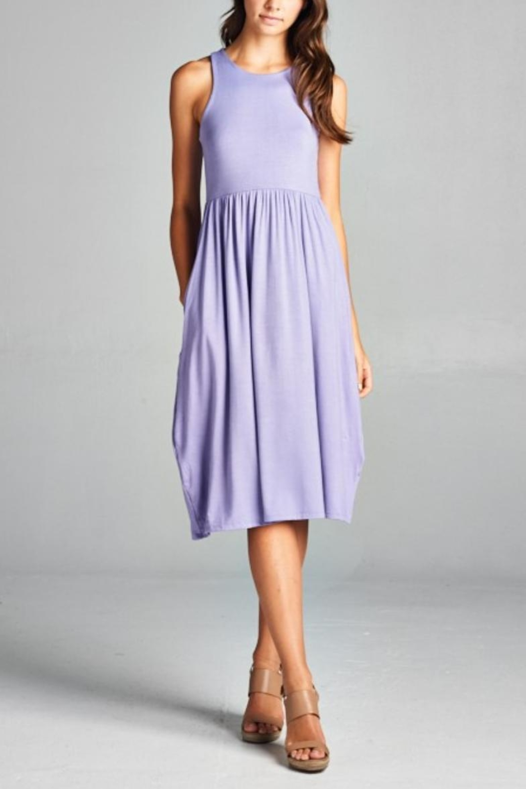 Bellamie Racerback Midi Dress - Front Cropped Image