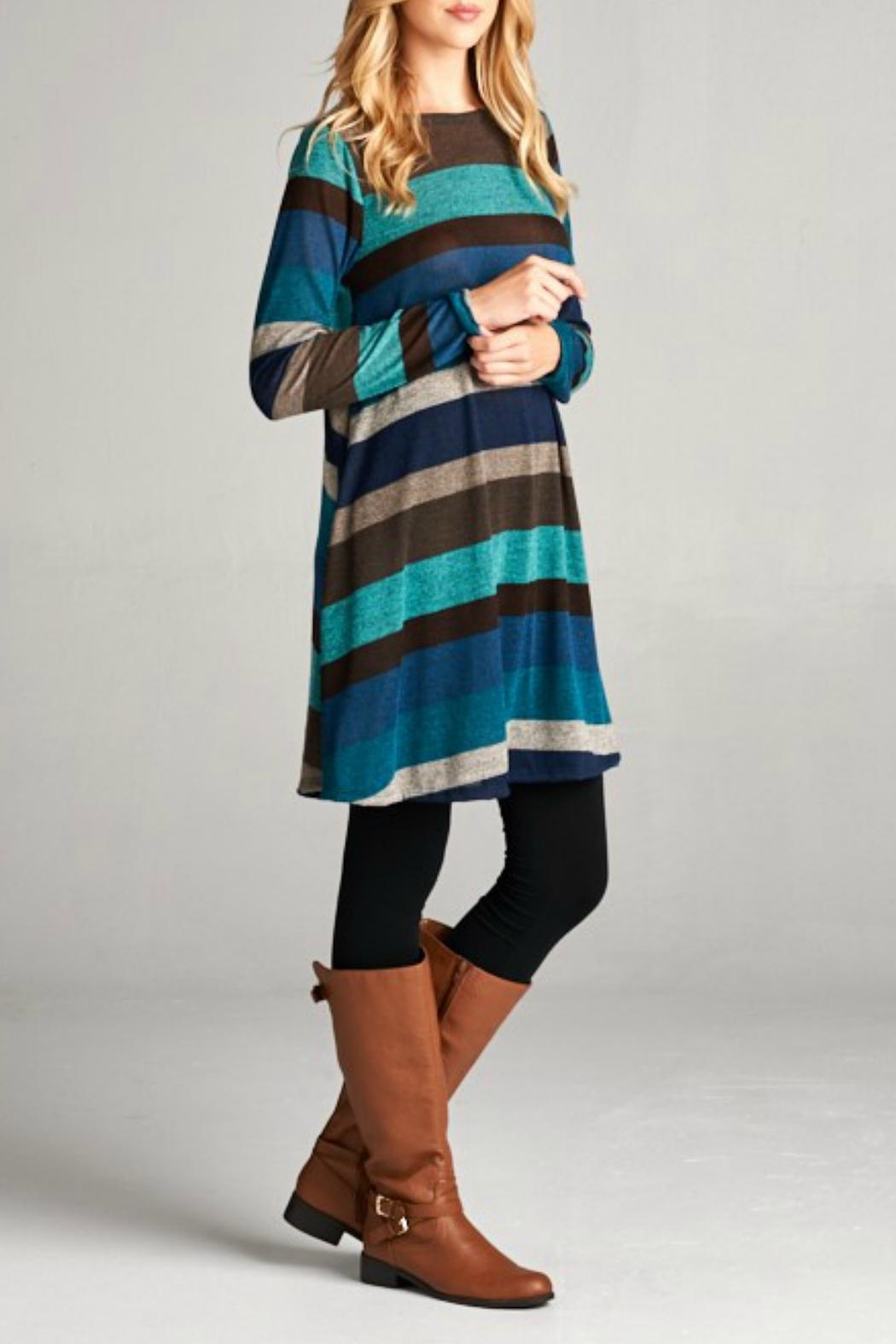 Bellamie Striped A-Line - Front Full Image