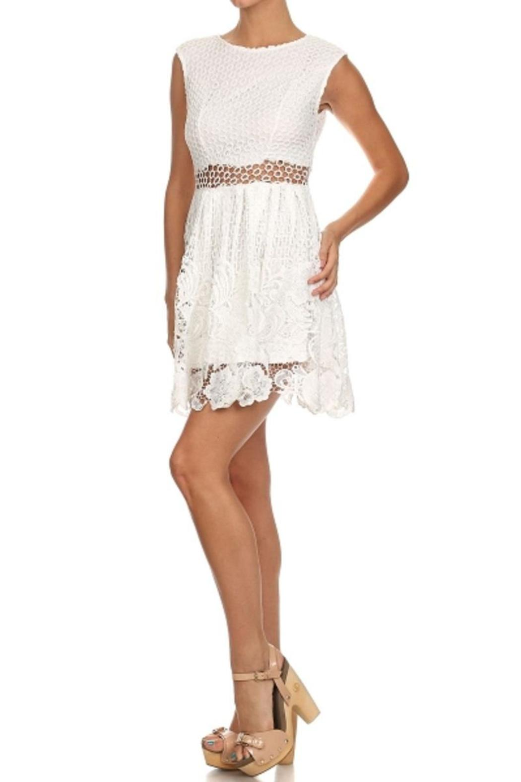 Bellamie The Amy Lace Dress - Side Cropped Image