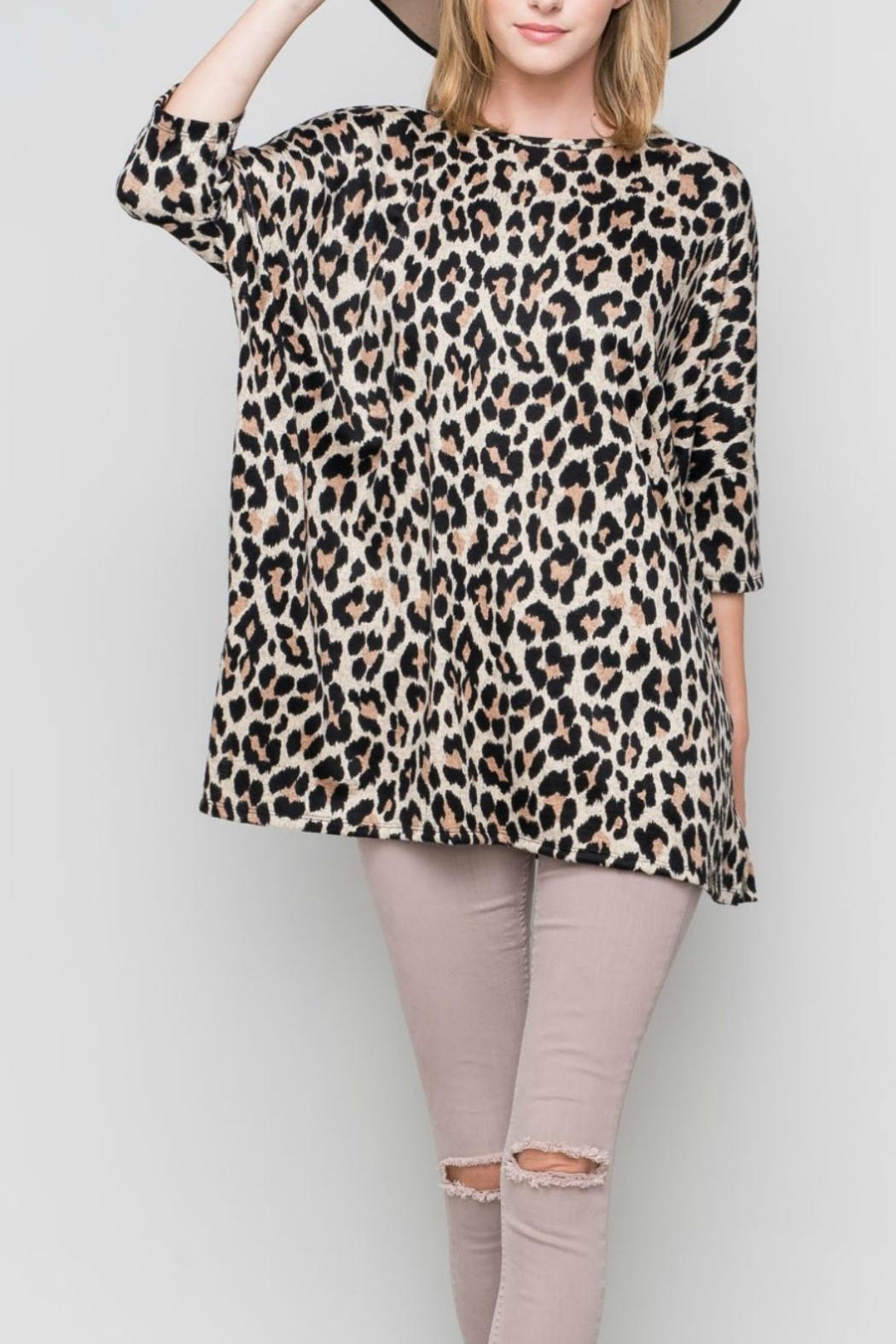 Bellamie The Leopard Tunic - Side Cropped Image