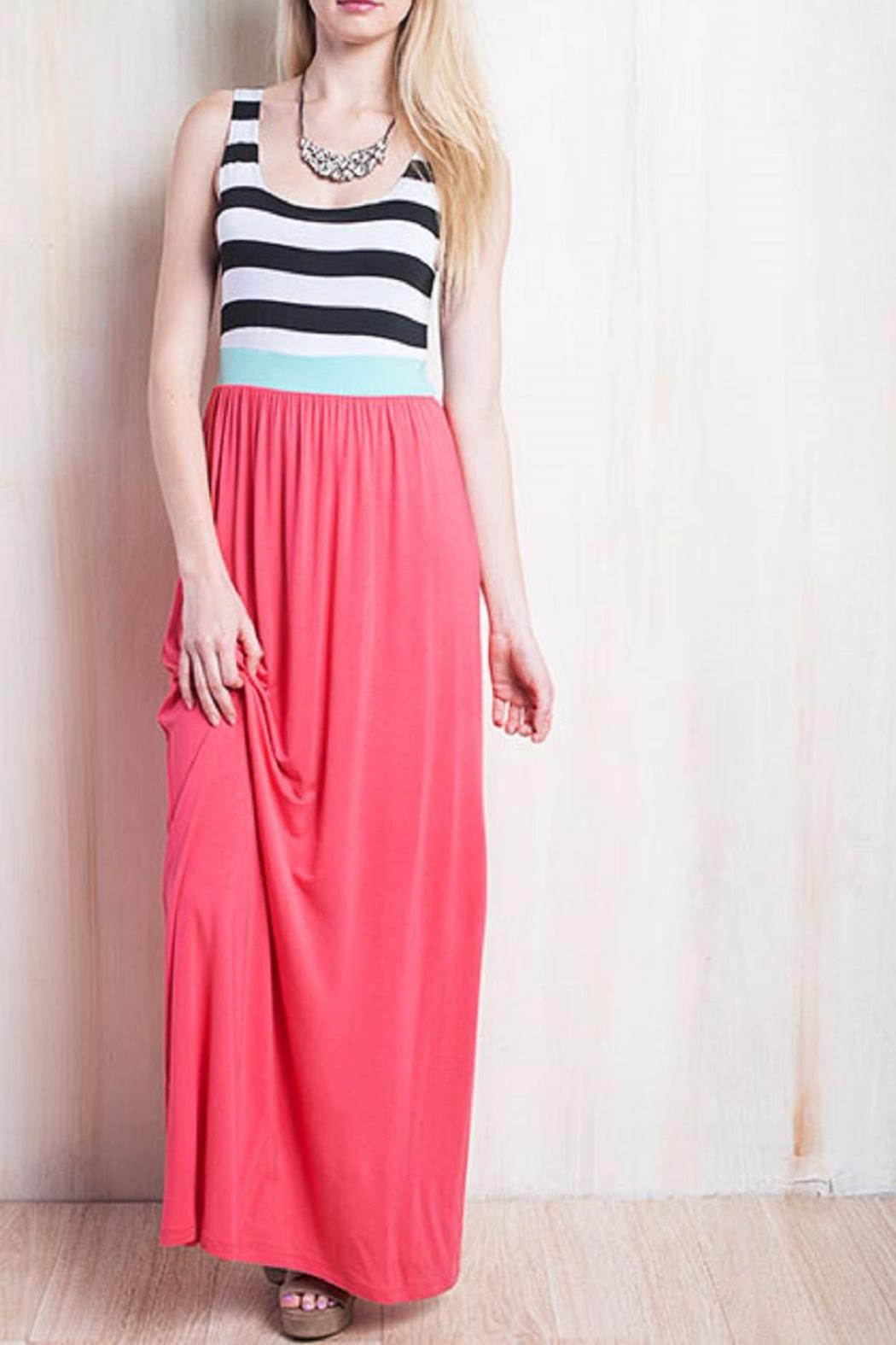 Bellamie The Mariah Striped Dress - Front Cropped Image
