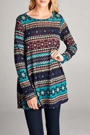 Bellamie Tribal Print Tunic - Front cropped