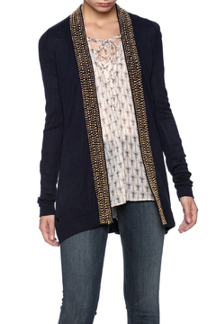 Shoptiques Product: Gold Beading Navy Cardigan
