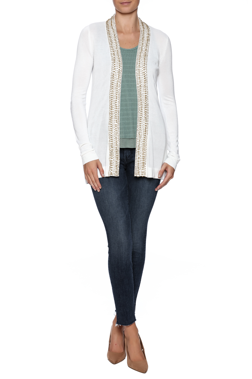 Belldini Beaded White Cardigan from Wisconsin by Simply Charming ...