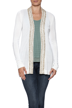 Shoptiques Product: Beaded White Cardigan