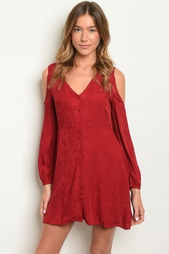Shoptiques Product: Belle Cranberry Dress