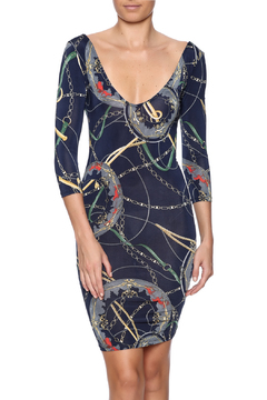 Belle Femme Fashions Chain Print Dress - Product List Image