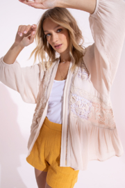 Black Swan Belle Lace Cardi - Front cropped