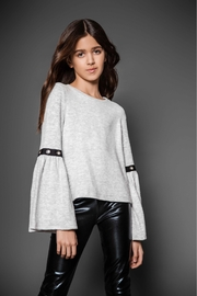 MIA New York Belled Grommet Sweater - Front cropped