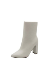 Bamboo Bellflower-72 Heeled Bootie - Front cropped