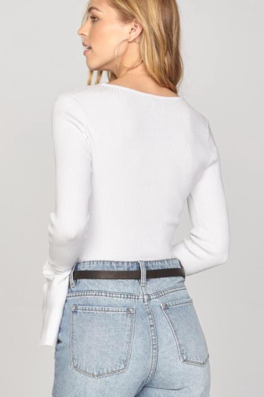 AMUSE SOCIETY Bellsleeve Crop Top - Front Full Image