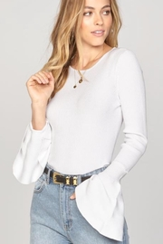 AMUSE SOCIETY Bellsleeve Crop Top - Front cropped