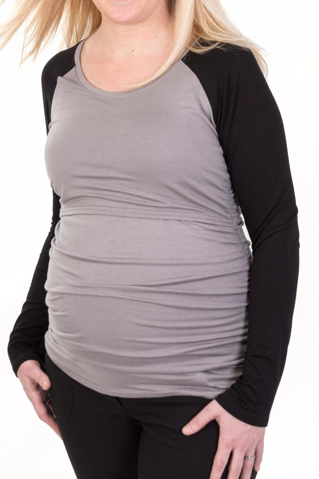ffe7f4be27794 Bellybedaine Baseball Maternity Top from Canada by BellyBedaine ...