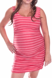 Bellybedaine Stripe Peach Dress - Front cropped
