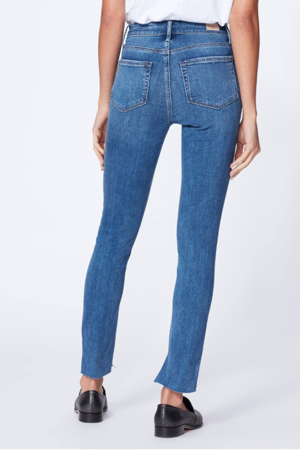 Paige Denim Belmoore Margot Skinny Jean - Back Cropped Image
