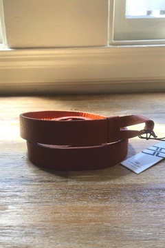 Below the Belt Hooped Leather Belt - Product List Image