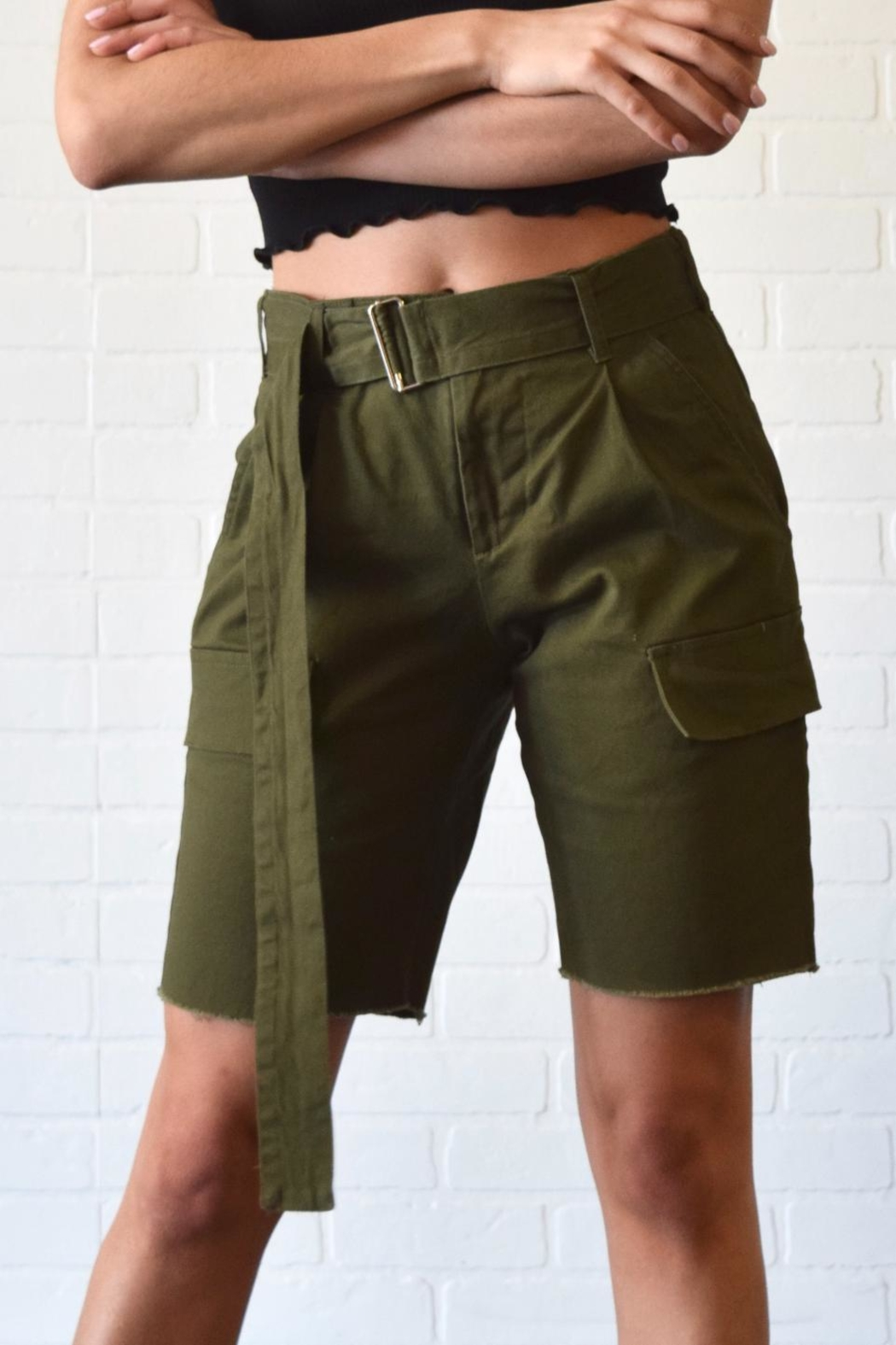 Better Be Belted Bermuda Shorts - Main Image