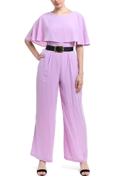 Shoptiques Product: Belted Cape Jumpsuit