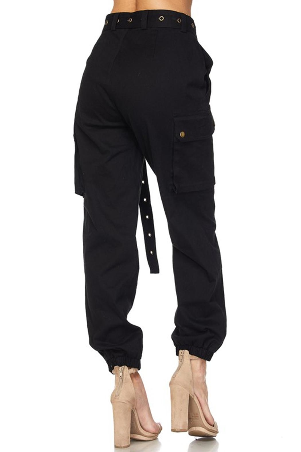 hot and delicious Belted Cargo Pant - Back Cropped Image