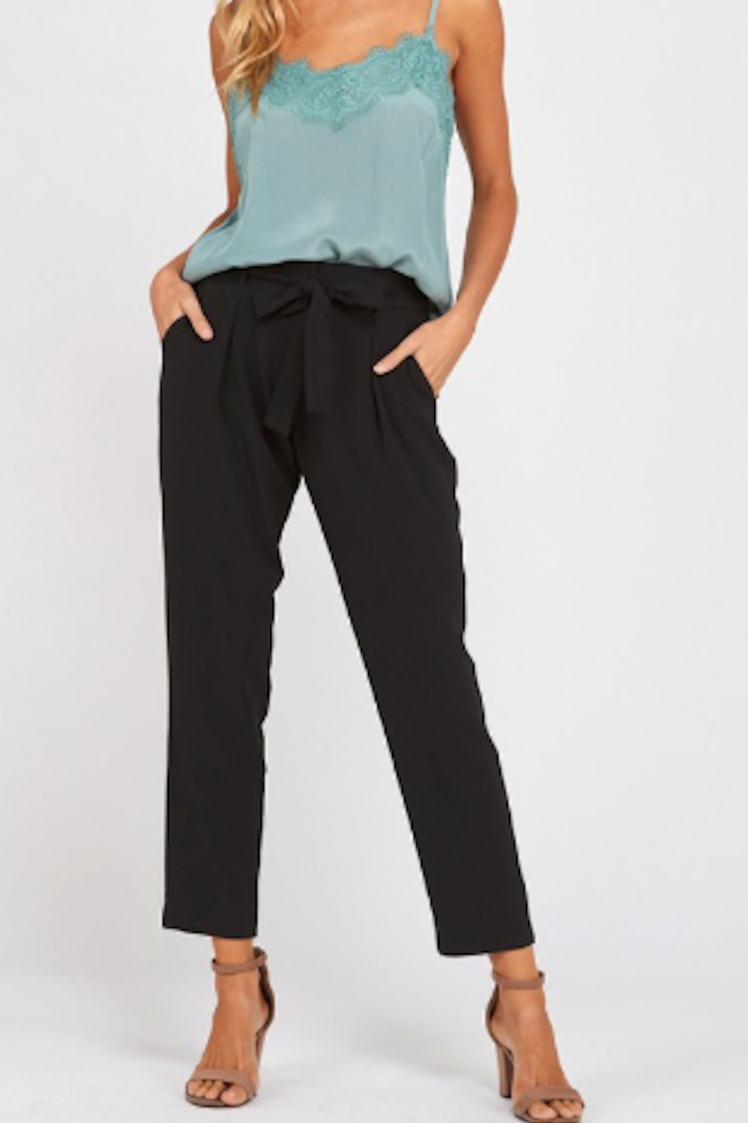 Wishlist Belted Crepe Pants - Main Image