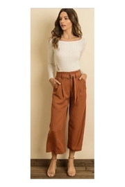 Polly & Esther Belted Culotte Pants - Product Mini Image