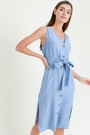 Love Tree Belted Denim Dress - Product Mini Image