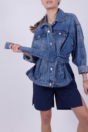 NU New York Belted Denim Jacket - Product Mini Image