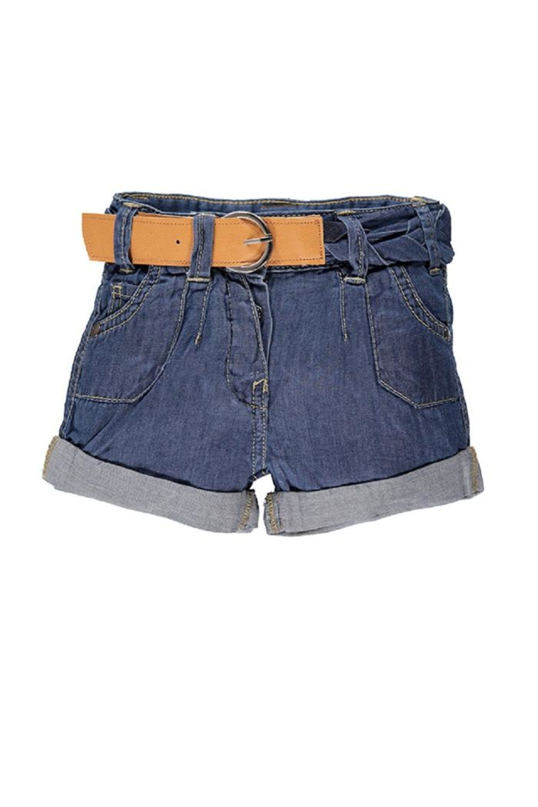 Kanz Belted Denim Short - Main Image