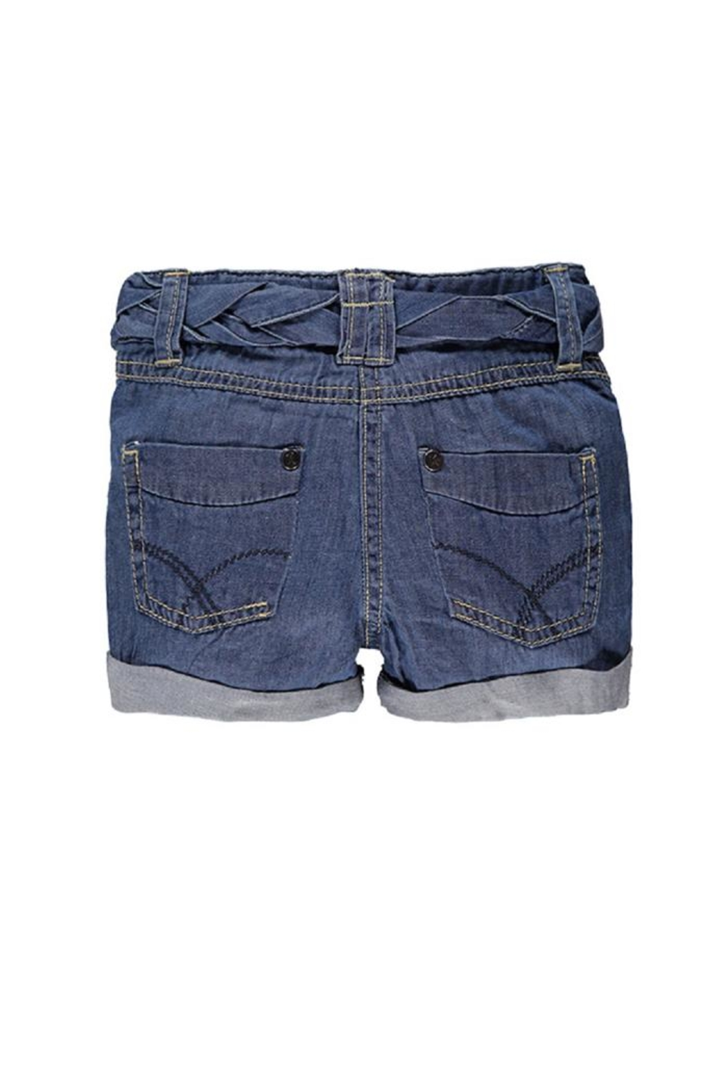 Kanz Belted Denim Short - Side Cropped Image