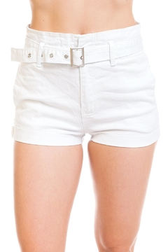 Shoptiques Product: Belted Denim Shorts