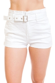 Machine Jeans Belted Denim Shorts - Product Mini Image
