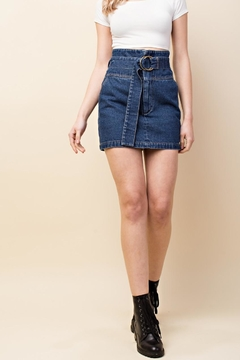 Shoptiques Product: Belted Denim Skirt