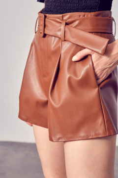 Do + Be  Belted Faux Leather Short - Alternate List Image