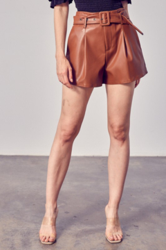 Do + Be  Belted Faux Leather Short - Product List Image