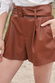 Do + Be  Belted Faux Leather Short - Product Mini Image