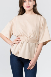 On Twelfth Belted Glitter Top - Product Mini Image