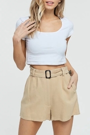 crescent Belted High Waist Short - Product Mini Image