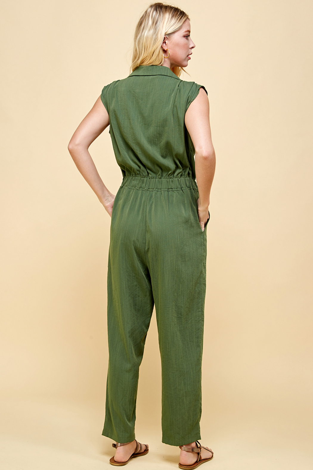 Pinch BELTED JUMPSUIT - Side Cropped Image
