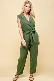 Pinch BELTED JUMPSUIT - Front cropped